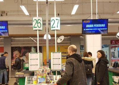 Видеореклама Indoor TV в гипермаркете Окей Гуд Зон
